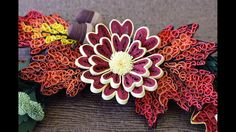 Quilling Tutorial - Marigold Flowers (Fall Wreath - part 2 of 4)