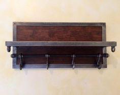 Moderno Perchero con estante elección de madera y por KrovelMade