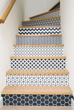 wallpapered and tiled staircase design and decor ideas - Most staircases are ove. - Home Design