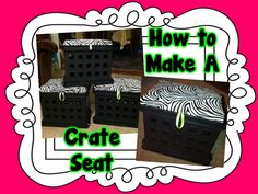 how-to make a crate seat {tutorial}