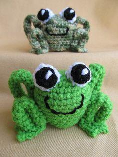 Leap Frogs Crochet Amigurumi Pattern by CraftyDebDesigns on Etsy