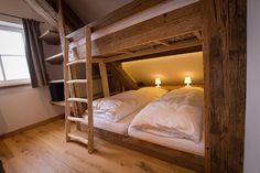 Cabin Loft, Cozy Cabin, Cozy Cottage, Bunk Bed Rooms, Bunk Beds, Chalet Interior, Rustic Bedding, Other Rooms, Dream Bedroom