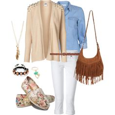 """School outfit! """"Rosy Thursday"""" By carissa-walker on Polyvore ."""