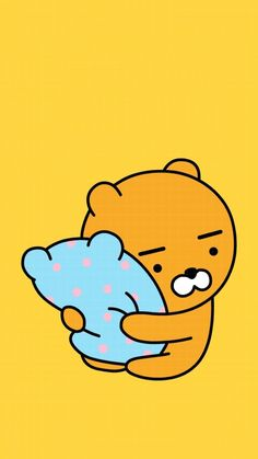 in which a kpop idol kim namjoon from bts finds comfort in an acciden… Fanfiction Asian Wallpaper, Bear Wallpaper, Kawaii Wallpaper, Cute Wallpaper Backgrounds, Wallpaper Iphone Cute, Cute Illustration, Character Illustration, Ryan Bear, Kakao Ryan