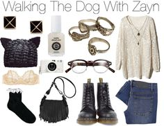 """""""Walking The Dog With Zayn"""" by wtftowear ❤ liked on Polyvore"""