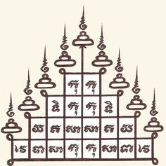 Thai Sak Yant Tattoo- Gao Yord, The Nine Spires
