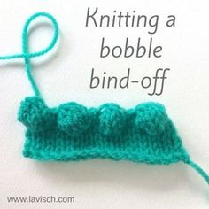 Bobble bind-off tutorial by La Visch Designs - www.lavisch.com