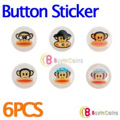 6 X Button Sticker iPhone iPod Touch iPad Paul Frank #9 -- BuyinCoins.com