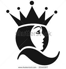 Image result for black and white image of a woman wearing crown