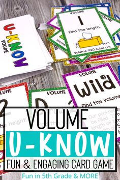 A fun and engaging review game for finding volume. This hands on review game reviews how to find volume of rectangle prisms and use geometric formulas. Great activity to use for math test prep in 5th grade. This cards game is perfect for practicing finding volume and can be used in centers, independent practice or a small group. This game could even be sent home during times of distance learning as it's easy to learn and can be played by the entire family! Elementary Math, Upper Elementary, Geometric Formulas, Fun Math Games, Math Test, Review Games, Test Prep, Math Classroom, 5th Grades