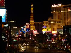Las Vegas strip 2009.   Paris!  Planet Hollywood!