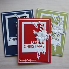 Christmas Floral Spray by - Cards and Paper Crafts at Splitcoaststampers Christmas Cards To Make, Christmas 2019, Merry Christmas, Poinsettia Cards, Tiddly Inks, Easel Cards, Mini Books, Card Making, Cards