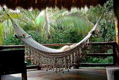 Crochet hammock hanging on your porch at Viceroy Riviera Maya.