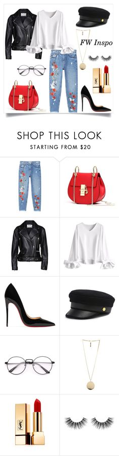 """""""FW Inspo"""" by r-sarra ❤ liked on Polyvore featuring MANGO, Acne Studios, Christian Louboutin, Henri Bendel, Givenchy, Yves Saint Laurent, Velour Lashes, fashionWeek and fashiontrend"""