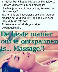 Ga naar Facebook en doe mee! Massage For Men, Massage Quotes, Massage Benefits, Facebook