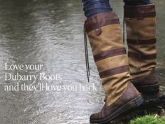 Must have. Dubarry boots. So English.