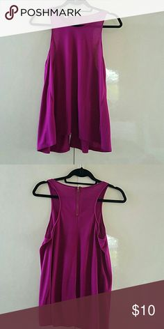 "Express tank top purple tank with back zipper and a 4"" center back vent American Eagle Outfitters Tops Tank Tops"
