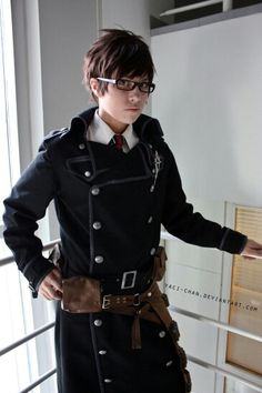 Yukio cosplay Ao no exorcist/Blue Exorcist I always find his mole placement cool.