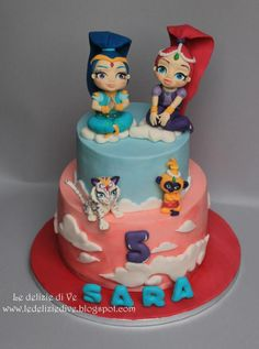 SHIMMER AND SHINE CAKE - Cake by le delizie di ve