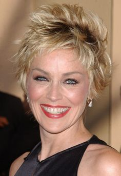 Sharon Stone Hairstyles - September 1, 2004 - DailyMakeover.com