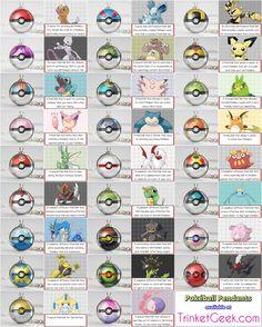 The Pokeballs usable from the main series pokemon games! #pokemon #pokeball #TrinketGeek