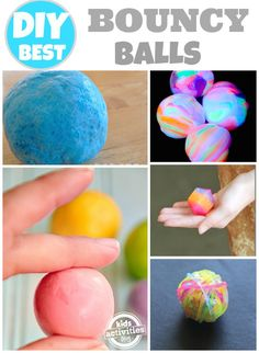 Homemade bouncy balls! My son LOVES bouncy balls! How have I not thought of looking this up?