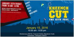Welcome to #KheenchCut - The #KiteFest in #Hyderabad Enjoy this Kite Fest with Drinks, Kites Music, Dance.