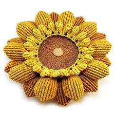 Chinese Knot Sunflower Dish Sunflower Plate Macrame