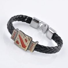 Cheap leather bracelet, Buy Quality leather bracelet men directly from China men bracelet Suppliers: Metal Dotas 2 Game Leather Bracelet Men Bracelet Men Jewelry Boy Gift Cosplay Bangles Feather Braided Wristband Bracelet Braided Bracelets, Bracelets For Men, Fashion Bracelets, Bangle Bracelets, Bangles, Bracelet Men, Dota 2, Viking Bracelet, Leather Wristbands