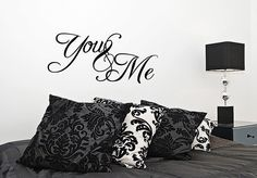 WINNER: You and me bedroom Vinyl Wall Decal Sticker Quote Art Love Saying