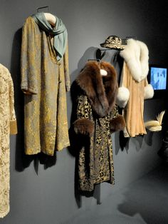 Coats worn by the Downton Abbey women. From the exhibit at Winterthur Museum. Downton Abbey Costumes