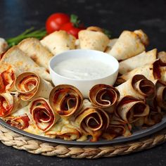 Pizza Cone Dip Ring. perfect for a party or appetizers!