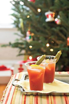 Kane's Peppery Bloody Mary - 37 Spirited Holiday Cocktails - Southernliving. It's hard to beat the spicy bite of a good bloody mary on holiday mornings. Seasoned with fresh basil, cilantro, and chives, this drink received the highest rating from Southern Living's test kitchen.  Recipe: Kane's Peppery Bloody Mary