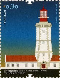 Selo dos CTT, 2008, Farol do Cabo Espichel.