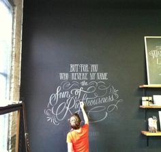 *beautiful chalk typography