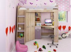 Postele od 123 € v akcii až Kids Furniture, Furniture Sets, Modern Teen Room, Bed With Wardrobe, High Sleeper, Sonoma Oak, Deck Design, Big Houses, My Room