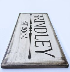 hand painted last name sign grey - Google Search
