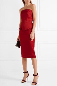 Roland Mouret   Cozen strapless stretch-satin dress   NET-A-PORTER.COM