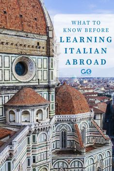 What does the Italian language evoke for you: romance, culture, or delicious food? No matter your reason, learning Italian is a great decision. Here's what you need to know before learning Italian abroad. Europe Destinations, Europe Travel Tips, Italian Language School, Study Abroad Packing, Visit Florence, Tour Around The World, Volunteer Abroad, Learning Italian, Things To Know