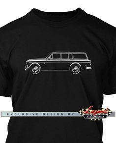 Volvo P210 P220 Amazon Station Wagon - Lights of Art T-Shirt - A game of subtle lights and shadows reveal the magnificent curves of the body of this Legendary Coupe. Detailed and harmonious, the illustration has grabbed the essence of one of the most influential vehicle of the 20th century. A true Legend that lives forever: the Volvo P210 P220 Amazon Station Wagon T-Shirt!