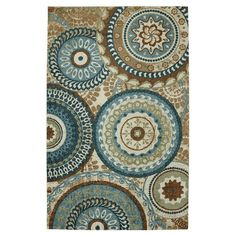 Found it at Wayfair - Strata Teal Suzani Forest Rug