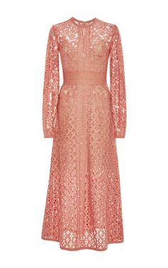 Lace A Line Long Dress by ELIE SAAB for Preorder on Moda Operandi