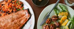 Ginger-Honey Glazed Grilled Salmon with Carrot and Miso Slaw | Frontier Grilling