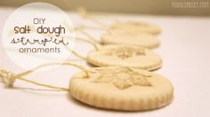 DIY Salt Dough Stamped Ornaments
