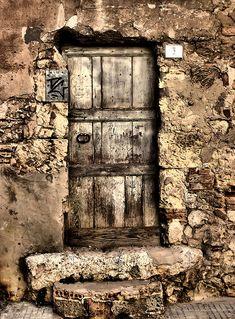 open doors, Sardinia, by Simone Raspino. Les Doors, Windows And Doors, Knobs And Knockers, Door Knobs, Rustic Doors, Wooden Doors, Door Entryway, Vintage Doors, Door Gate