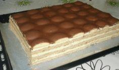 Najlepšie piškotové TANGO REZY s pudingovým krémom! - Page 2 of 2 - zenskerady. Hungarian Desserts, Hungarian Cake, Hungarian Recipes, Slovak Recipes, Czech Recipes, Sweet Cookies, Sweet Treats, Sweet Desserts, Sweet Recipes