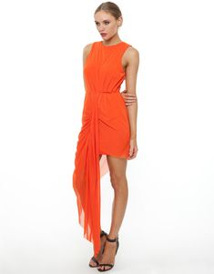 43 TRENDY ASYMMETRICAL DRESSES. I like the bright colour but also the shape is kinda of different.