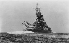 battle shit photos | The battleship Tirpitz conducting trials in the Baltic Sea during the ...