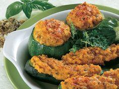 Zucchine allo zafferano con ripieno vegetariano al gratin #zafferano