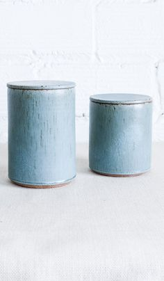 Victoria Morris Pottery Ceramic Canisters: Robin's Egg Speckle